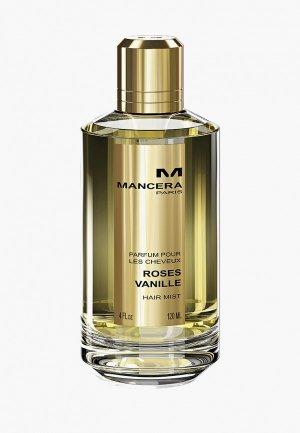 Парфюмерная вода Mancera для волос ROSES VANILLE Hair Mist, 120 мл. Цвет: прозрачный