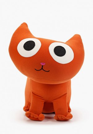 Подушка декоративная Gekoko Котенок Спарк. Цвет: оранжевый