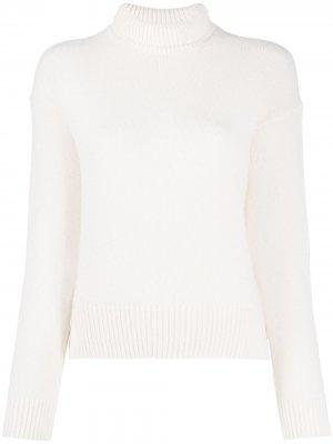 Rollneck knit jumper Laneus. Цвет: белый