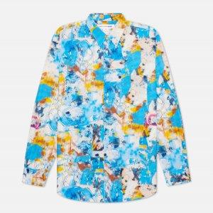 Мужская рубашка x Futura Print C Comme des Garcons SHIRT. Цвет: голубой