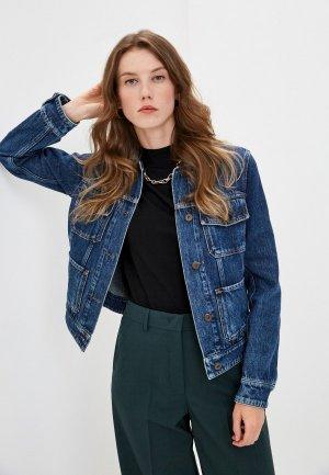 Куртка джинсовая Weekend Max Mara ELISIR. Цвет: синий