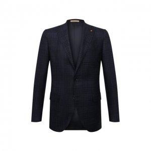 Пиджак из шерсти и кашемира Sartoria Latorre. Цвет: синий