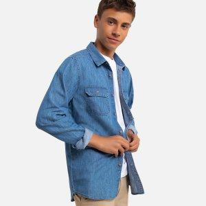 Рубашка LaRedoute. Цвет: синий