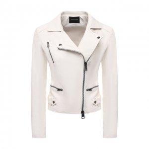 Кожаная куртка Simonetta Ravizza. Цвет: белый