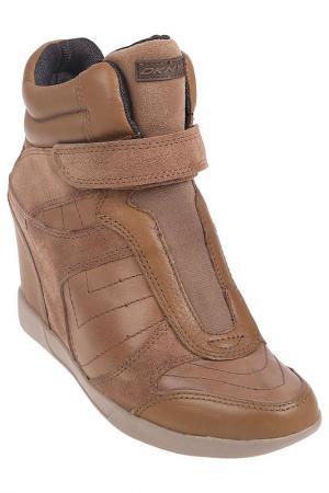 Кеды DKNY. Цвет: коричневый