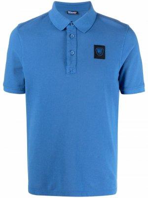 Рубашка поло с нашивкой-логотипом Blauer. Цвет: синий