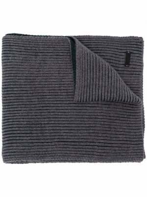 Ribbed wool scarf Boss Hugo. Цвет: серый
