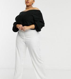 Белые премиум-брюки Plus X Hayley Hasselhoff-Белый Elvi