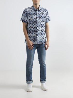 Зауженные джинсы Alessandro Manzoni Jeans. Цвет: goluboy