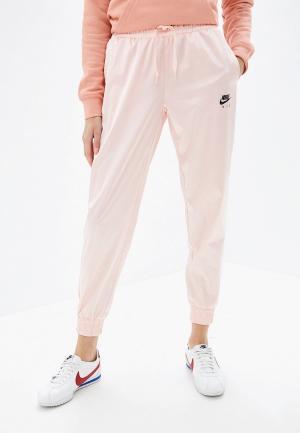 Брюки спортивные Nike AIR WOMENS SATIN TRACK PANTS. Цвет: розовый