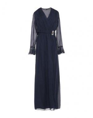 Длинное платье ATOS LOMBARDINI. Цвет: темно-синий