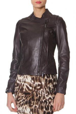 Куртка кожаная La Reine Blanche. Цвет: не указан