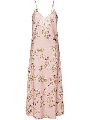 Ночная сорочка с принтом Pour Les Femmes. Цвет: розовый