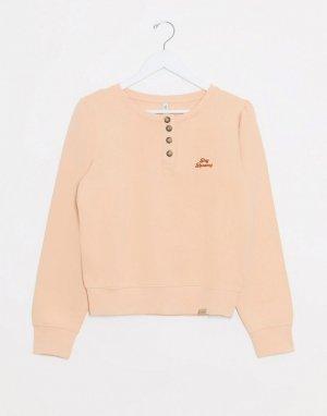 Розовый свитер на пуговицах Blend She