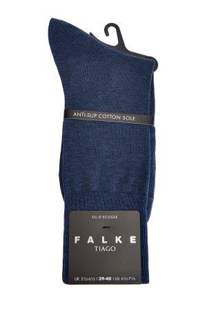 Высокие носки Tiago из мерсеризованного хлопка FALKE. Цвет: голубой