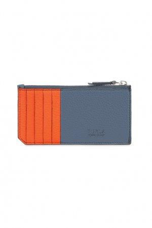 Оранжево-серая кредитница Man Delfi FURLA. Цвет: оранжевый