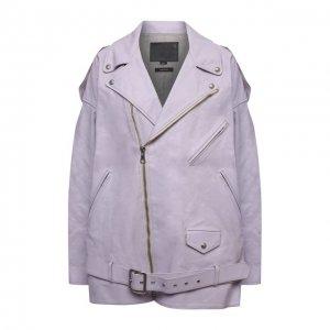 Кожаная куртка R13. Цвет: фиолетовый