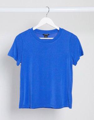 Синяя футболка из вискозы -Синий Monki