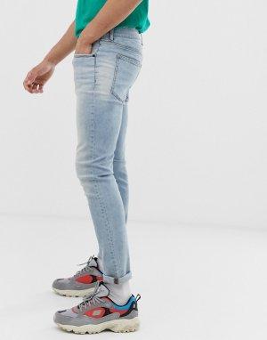 Светло-синие джинсы скинни -Синий Cheap Monday