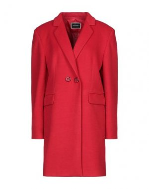 Пальто ANIMAGEMELLA. Цвет: красный