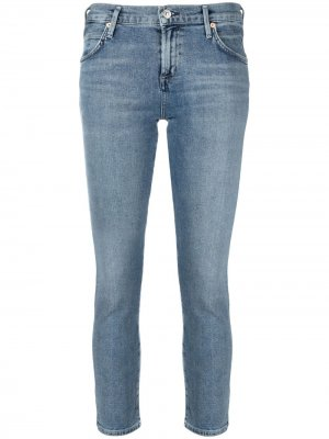 Укороченные джинсы с заниженной талией Citizens of Humanity. Цвет: синий