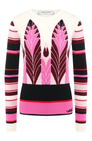 Пуловер из смеси шерсти и кашемира Valentino. Цвет: розовый