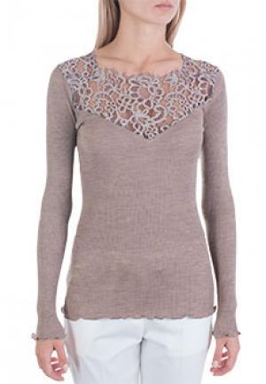 Блуза BONA DEA. Цвет: коричневый