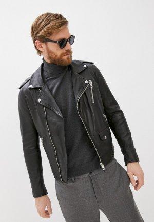 Куртка кожаная Serge Pariente. Цвет: черный