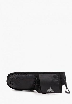 Пояс для бега adidas RUN BOT BAG. Цвет: черный
