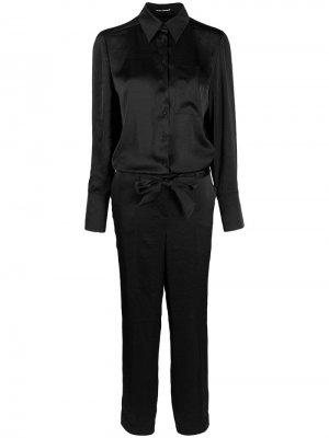 Комбинезон-рубашка Luisa Cerano. Цвет: черный