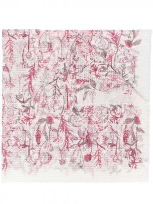 Платок с цветочным принтом Agnona. Цвет: белый