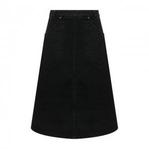 Джинсовая юбка Kenzo. Цвет: чёрный