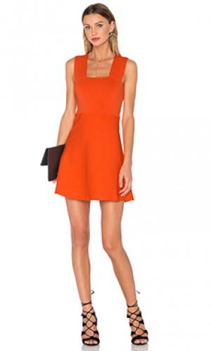 Мини платье ali A.L.C.. Цвет: оранжевый