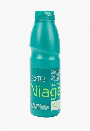 Лосьон для волос Estel NIAGARA химической завивки №4 обесцвеченных и поврежденных волос, 500 мл. Цвет: прозрачный