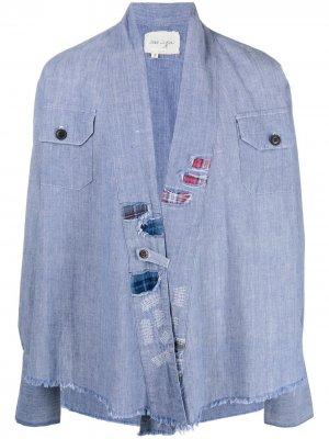 Джинсовая куртка Greg Lauren. Цвет: синий