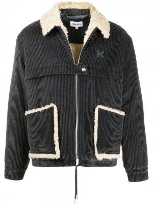 Вельветовая куртка-рубашка Kenzo. Цвет: серый