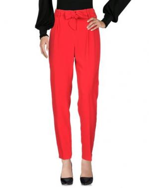 Повседневные брюки CANNELLA. Цвет: красный