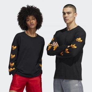 Лонгслив Shmoo (Унисекс) Originals adidas. Цвет: черный