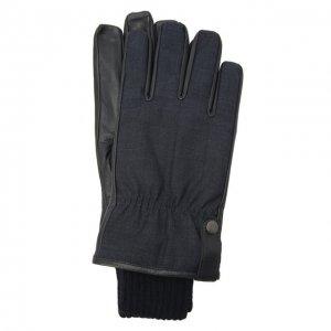 Комбинированные перчатки Paul&Shark. Цвет: синий
