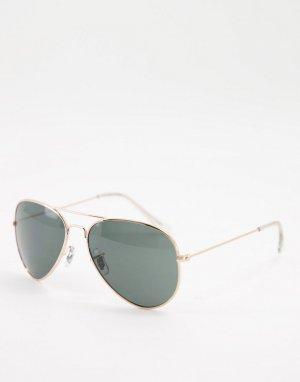 Солнцезащитные очки-авиаторы в золотистой оправе -Золотистый Jack & Jones