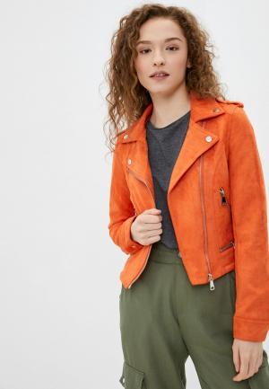 Куртка кожаная Softy. Цвет: оранжевый