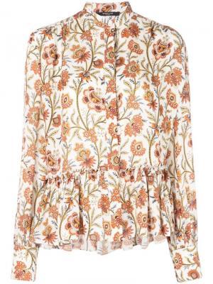 Блузка с длинными рукавами и цветочным принтом Derek Lam. Цвет: белый