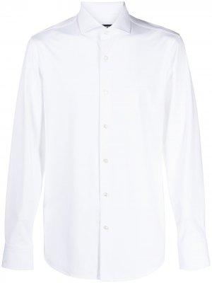 Строгая рубашка с длинными рукавами Boss Hugo. Цвет: белый