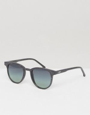 Солнцезащитные очки в квадратной оправе Francis Neutro Komono. Цвет: черный