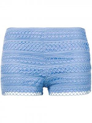 Шорты мини с вышивкой Charo Ruiz Ibiza. Цвет: синий