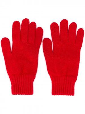 Трикотажные перчатки A.P.C.. Цвет: красный