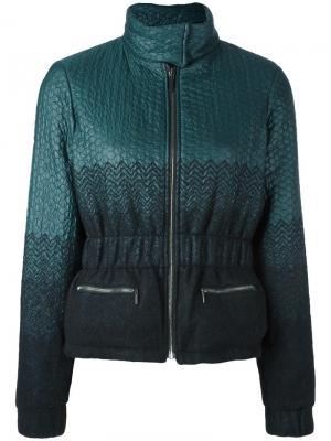 Куртка с градиентным эффектом Emanuel Ungaro. Цвет: зелёный