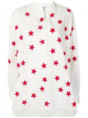 Рубашка с принтом 8pm. Цвет: белый