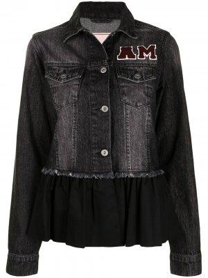 Джинсовая куртка с бахромой Antonio Marras. Цвет: черный