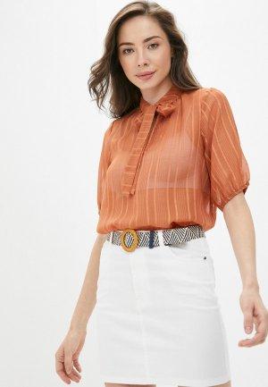 Блуза Ichi. Цвет: оранжевый